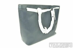 NEW - COACH Solid Blue Grain Leather Luxury Tote Bag 84630