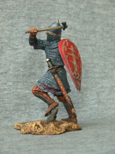 Russian prince runs with an axe SCALE1/24 75 mm Collectible painting tin soldier