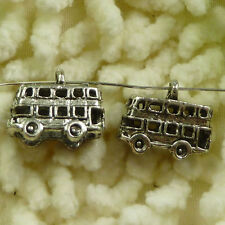 Free Ship 120 pieces tibetan silver school bus charms 16x14mm #838