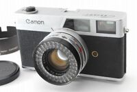 【EXC+++】Canon Canonet Rangefinder Red Flag WORKS W/ Case,Hood from Japan