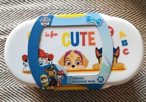 BNWT Paw Patrol Babies Travel Weaning Box With Cutlery. Age 6+ Months
