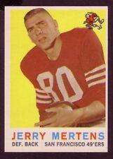 1959 TOPPS JERRY MERTENS  CARD NO:42 NEAR MINT CONDITION