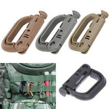 5Pcs Grimloc Molle Carabiner Locking Ring Mount D-Ring Clip Snap Hook Carabiners