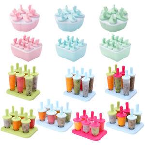 6/8X Lolly Ice Lolly Cream Maker Mold DIY Popsicle Mould Frozen Icebox Yogurt*