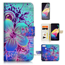 ( For Oppo R11S ) Wallet Case Cover P40447 Abstract Flower