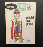 Les Cahiers De La Bande Dessinée n°25. Spécial Jean Giraud. Glénat 1974