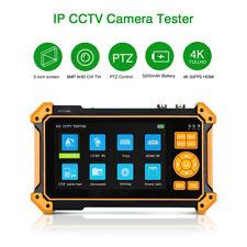5 inch 8MP IPC Camera Tester AHD CVI TVI SDI CVBS Security Monitor Test Video
