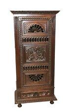 Antique French Breton Cabinet Narrow Model Oak