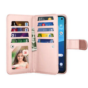 For Samsung Galaxy S10e/S20/S21 FE/Plus/Ultra 5G Leather Wallet Card Case Stand