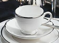 NEW Wedgwood Sterling Footed Teacup & Saucer