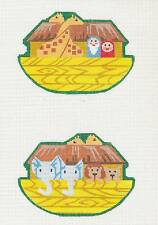 Labors of Love Noah's Ark & Animals handpainted Needlepoint Canvas clip Ornament