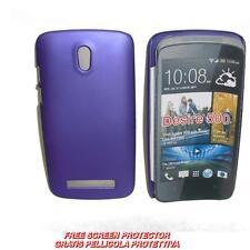 Pellicola+custodia BACK COVER RIGIDA VIOLA per HTC Desire 500 (A1)