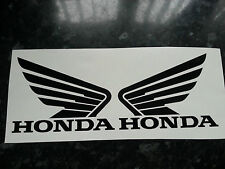 HONDA WINGS TANK DECAL STICKER X 2  115MM x 90mm FREEPOST MANY COLOURS