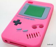 iPod Touch 4th Gen - SOFT SILICONE RUBBER GUMMY CASE COVER PINK GAMEBOY PLAYER