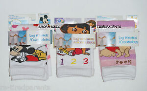 INFANT - TODDLER - LEG WARMERS – KNEE PROTECTION - MICKEY – DORA - POOH - 1 SIZE
