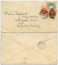 STAMP DEALER 1898 to RIDPATH LIVERPOOL STATIONERY PERU REUSED 15 PAULTONS SQ.SW