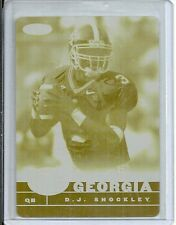 2007 Sage - D.J. SHOCKLEY - Printing Press Plate 1 of 1 - GEORGIA BULLDOGS
