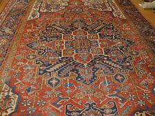 Antique Heriz Serapi rug estate lovely carpet 8'10''x11'10''