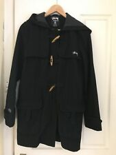Women's Stussy Duffle Coat, Black Size 12