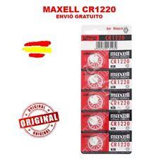 1 A 5 PILAS CR1220 BATERIAS MAXELL LITIO 3V BATERIE PILA CASIO G-SHOCK