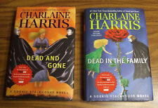 Two Charlaine Harris True Blood HC Books Dead & Gone, Dead in the Family, 1st