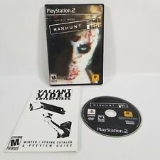 Manhunt (Sony PlayStation 2, 2003) CIB Complete Black Label