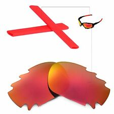 New Walleva Vented Fire Red Lenses And Red Earsocks 4 Oakley Jawbone