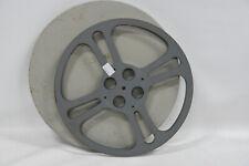 """13.75"""" 1600 ft. 16mm Metal Take-Up Spool +Case Film Movie Projector Reel Vintage"""