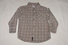 EUC Gymboree Boys VARSITY CHAMP Red & Black Plaid Brushed Cotton Shirt Size 2T