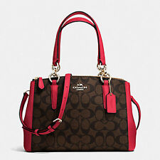 Paypal Coach Bag F36718 Brown Mini Christie Carryall Signature PVC Bag Agsbeagle