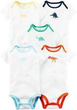 Nwt Carter's Baby Boy 5-Pack Dinosaur White Short-Sleeve Bodysuit Set (9 Months)