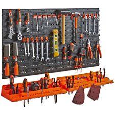 VonHaus Pegboard & Shelf Tool Organiser - Garage Wall Mounted Tool Holder Rack