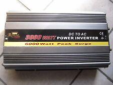 24V DC TO 115V AC 3000 WATT POWER INVERTER WITH DISPLAY,