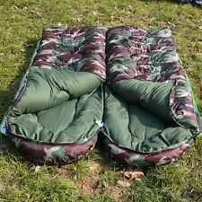 New Winter Warm Single Envelope Camo Sleeping Bag Outdoor Camping Hiking Travel
