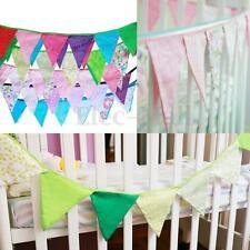 2.7m Vintage Bunting Banner Flag Garland Baby Shower Birth Wedding Party