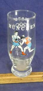 RARE 1972 Munich Munchen Olympics Boxing Beer Drink Glass Souvenir !