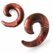 "PAIR-Tapers Spiral Wood Look Acrylic 12mm/1/2"" Gauge Body Jewelry"