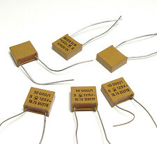 6x Jahre Glimmer-Kondensator 10 nF / 1 % / 125 Volt, High-End Koppelkondensator