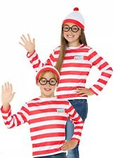 Where's Wally? Smiffys Fancy Dress Medium Age 7-9 Fast Free Tracked P&P 031