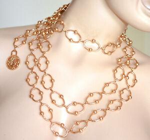 CINTURA ORO gioiello donna collana stringivita dorata lucida catena anelli PX1