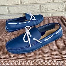 Cole Haan Men's 7.5 M Blue Leather Loafer Driver Moc Driving Shoes