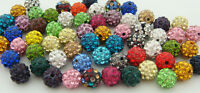 10mm cz Clay Crystal Disco Ball Make Bracelect Wholesale Shamballa Beads U PICK