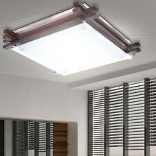 Decken Lampe Holz Glas Design Leuchte Wohn Ess Schlaf Zimmer Beleuchtung Küche