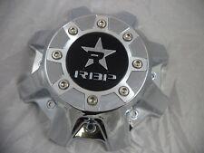 RBP Wheels Chrome / Black Logo Custom Wheel Center Caps # CAP8040-6-4-C (1 CAP)