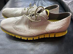 COLE HAAN Zerogrand grey green/yellow Sz 10.5 M Men  Wingtip Sneakers