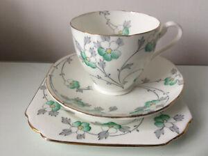 5887 ART Deco//Vintage Cina Tè Set Trio inglese. ROSLYN Cina British