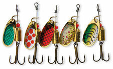 5 Assorted spinners 5g in display pack for pike,bass,perch,trout 5018050