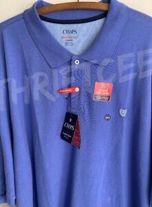 NWT 6XB Chaps Purple Everyday Polo Golf Shirt Stretch Temp Control Periwinkle