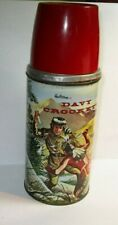 VINTAGE DAVY CROCKETT METAL VAC SEALED THERMOS #2066 HOLTEMP POLY RED TOP