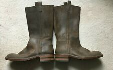 VERO CUOIO COWBOY BOOTS - DISTRESSED LEATHER - BROWN - MENS SIZE 7/40 WORN ONCE